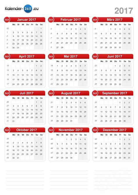 Kalender 2017 Wochenansicht Kalender 2017