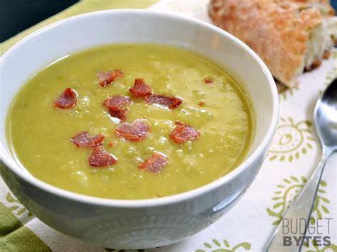 award winning split pea soup with gouda crostini split pea bacon potato soup recipe soup soup potato soup potatoes
