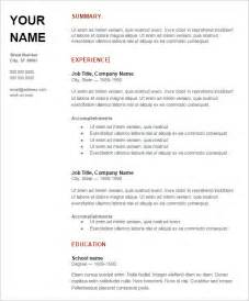 Resume Template   92  Free Word, Excel, PDF, PSD Format