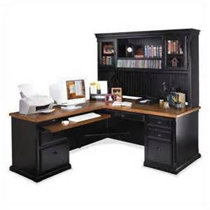 Office Desk L Shaped With Hutch Southton Onyx L Shape Executive Desk With Optional Hutch Modern Home Office Accessories