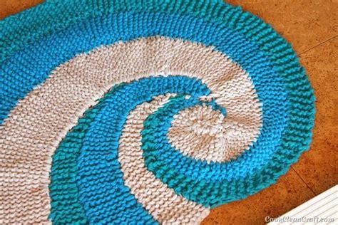 t shirt yarn dishcloth pattern knitting a seashell floor rug cook clean craft