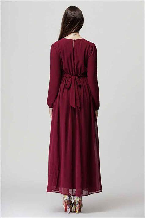 Gamis Maron dress gamis maroon trendy myrosefashion