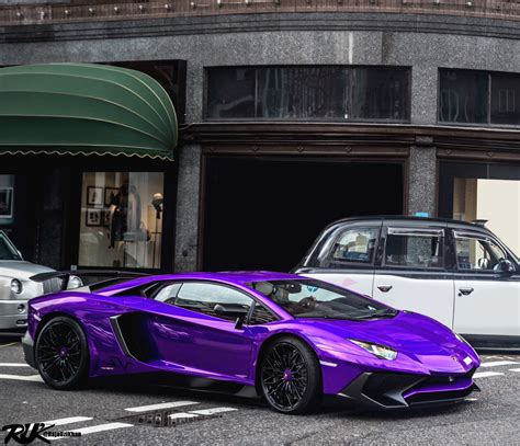 Purple Lamborghini Aventador SV   MadWhips
