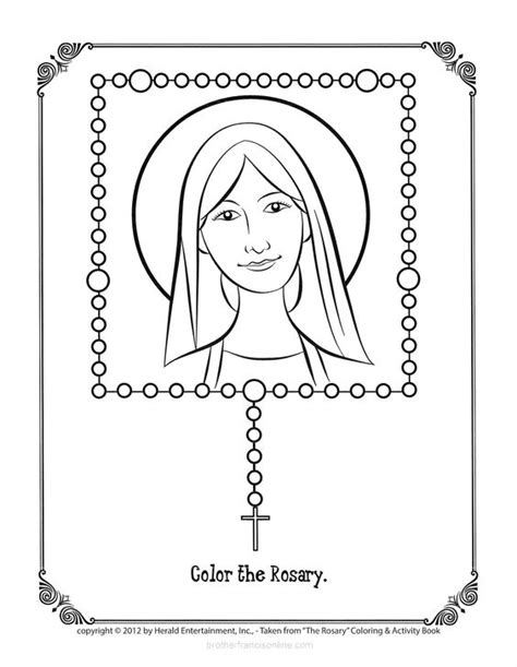 rosary coloring page printable pray and color a rosary bead as you complete each prayer