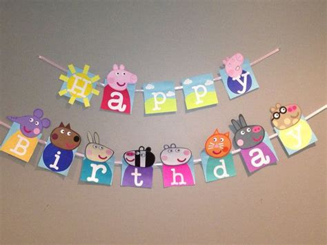 Handmade Happy Birthday Banner - handmade peppa pig happy birthday banner