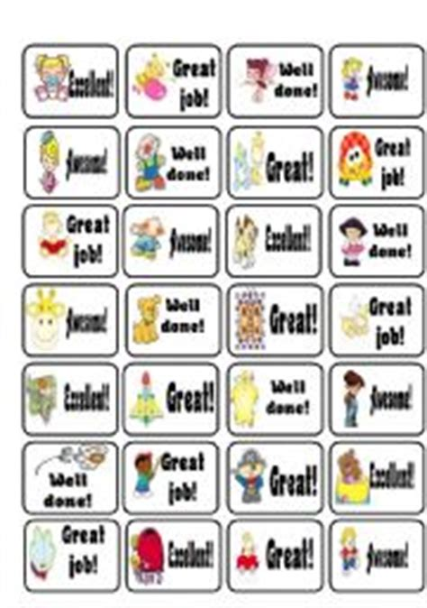 printable trophy stickers english worksheets award stickers