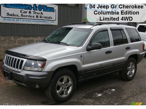 2004 jeep grand silver 2004 bright silver metallic jeep grand columbia