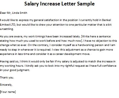 letter  request  salary increase sample templates