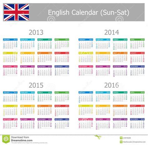 Calendrier Numéro Semaine 2016 Calendrier 2013 2016 Anglais De Type 1 Sun Sat Photos