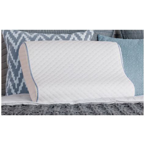 sealy memory foam bed pillow sealy 174 memory foam contour pillow 301192 pillows at