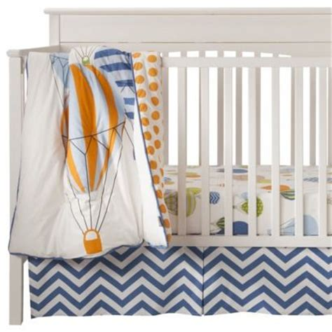 hot air balloon crib bedding blue and orange hot air balloon 3pc crib bedding set
