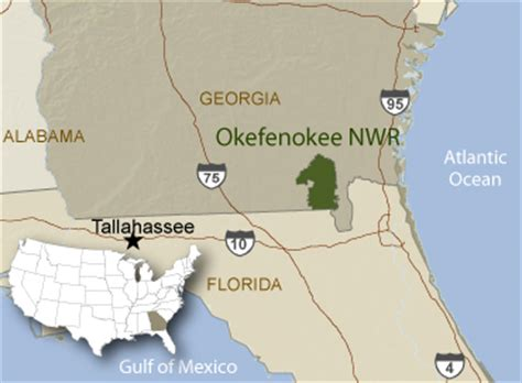 okefenokee sw map of national wildlife refuge system