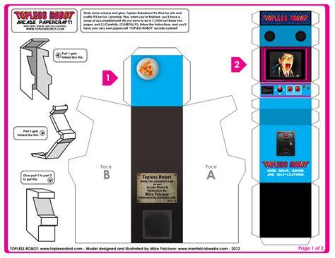 Arcade Papercraft - mental cobwebs the of mike falcione robot
