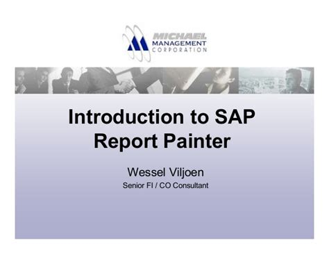 sap tutorial report painter introduction to report painter