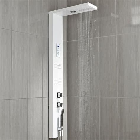 colonne docce colonne de hydromassante avec robinetterie blanc