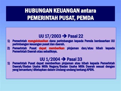 Hubungan Keuangan Antara Pemerintah Pusat Daerah memorandum program 4 2 siklus perencanaan dan penganggaran formal