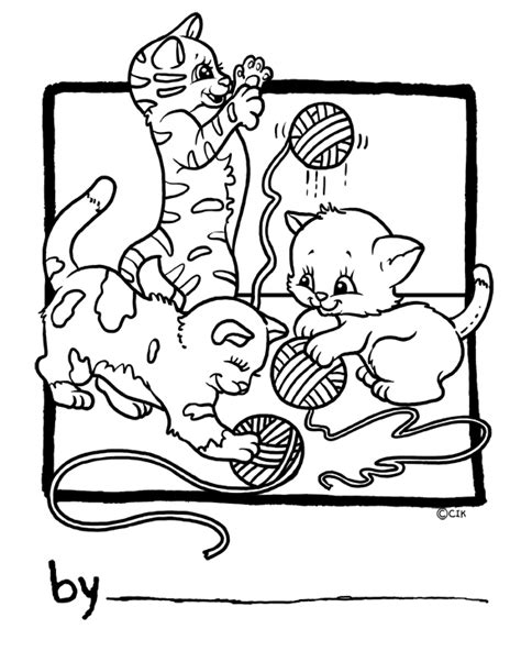 cats playing coloring pages free coloring pages of cat playing ball