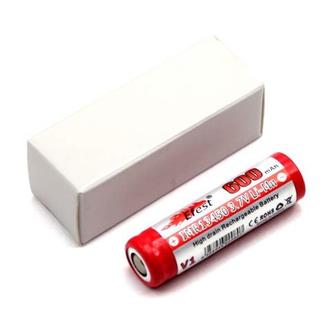 Efest Imr 13450 Li Mn Battery 600mah 3 7v With Flat Top 13450v1 Efest Imr 13450 Li Mn Battery 600mah 3 7v With Flat Top