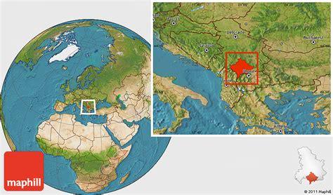 maps kosovo satellite satellite location map of kosovo