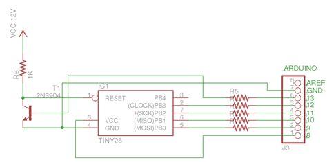 transistor for arduino high voltage arduino avr high voltage serial programmer