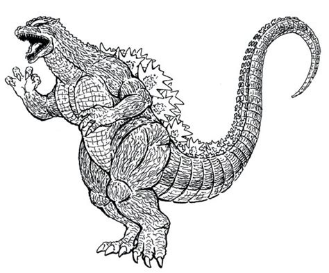 get this printable godzilla coloring pages 4z5cb