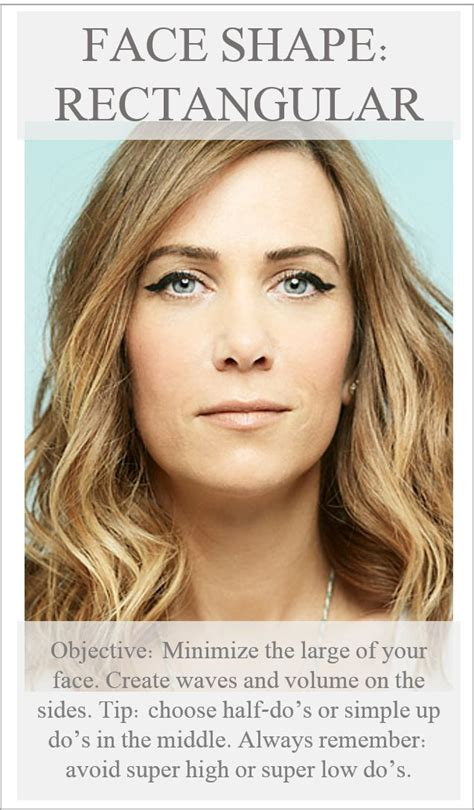 rectangle face shape hairstyles rectangle face shape do s hair pinterest
