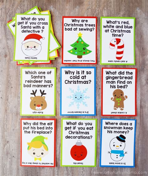 printable christmas joke cards free printable christmas lunch box jokes artsy fartsy mama