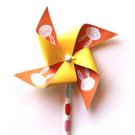Pinwheel Paper Craft - paper pinwheel templates easter bunny printables