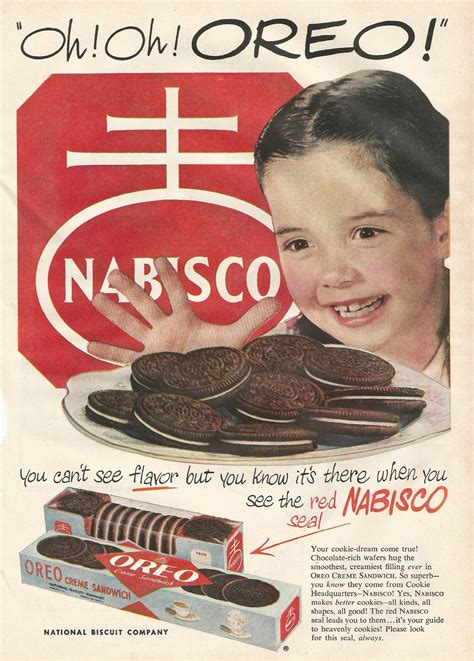 vintage tv commercials from the 1940s 50s 7 ads 1940s oreo ad vintage advertisements pinterest oreo