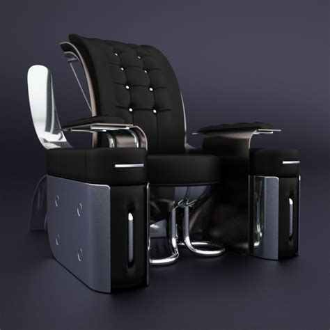Retro Futuristic Furniture Rondocubic Chair 01 | retro futuristic furniture rondocubic chair 01