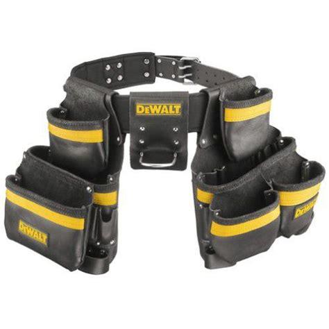 dewalt heavy duty tool belt set top grain leather large