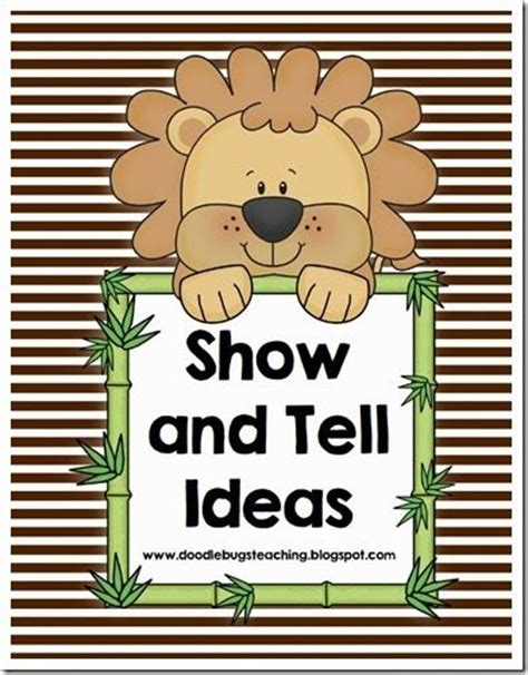 Ideas For Kindergarten Show And Tell | 17 best images about show tell on pinterest activities