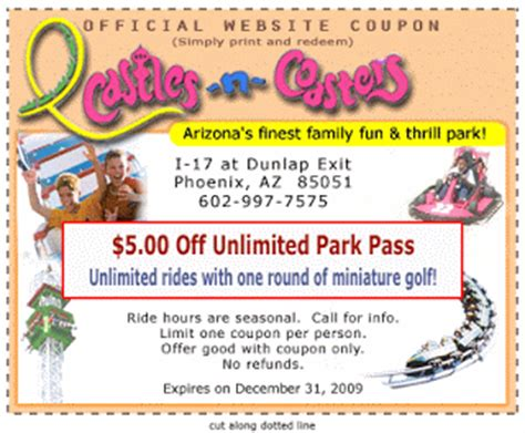 castles and coasters coupons for bronze pass