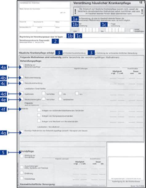 Rechnung Muster Zum Ausf Llen Verordnung H 228 Uslicher Krankenpflege Hinweise Zum Ausf 252 Llen
