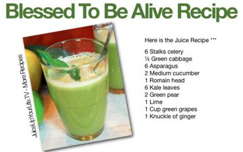 Bless Detox by Blessed To Be Alive Juice Recipe Healthy
