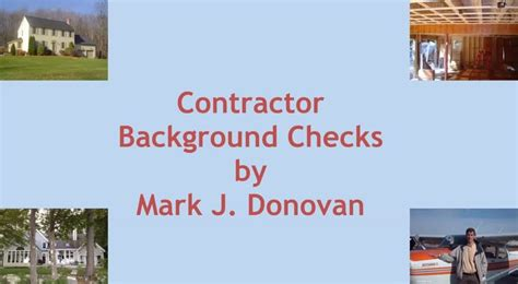 Contractor Background Check Home Improvement