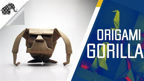 How To Make A Gorilla Out Of Paper - origami how to make an origami gorilla