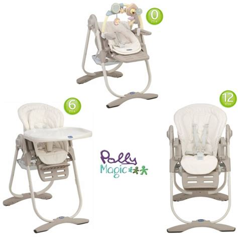 chicco chaise haute 3 en 1 polly magic aura aura achat