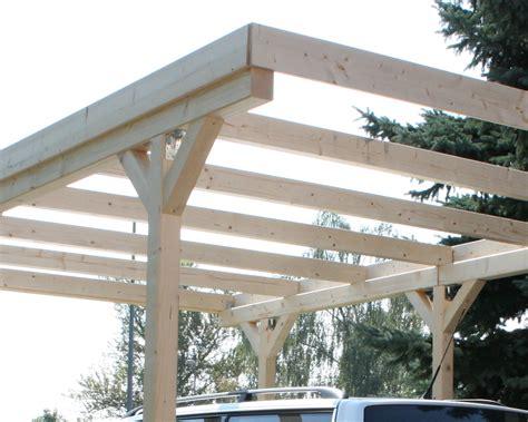 Flat Roof Carport Wall Mounting Solid Wood Carport Flat Roof Kvh 3000x5000mm