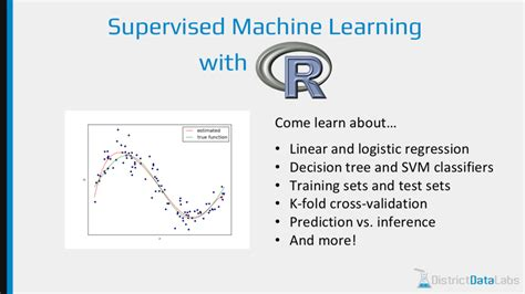 Machine Learning Mba by Supervised Machine Learning With R Workshop On April 30th