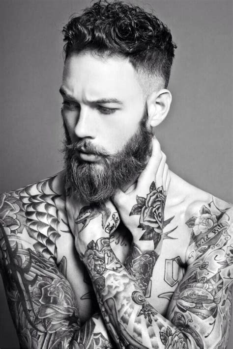 tattooed male models beard fabulous beards