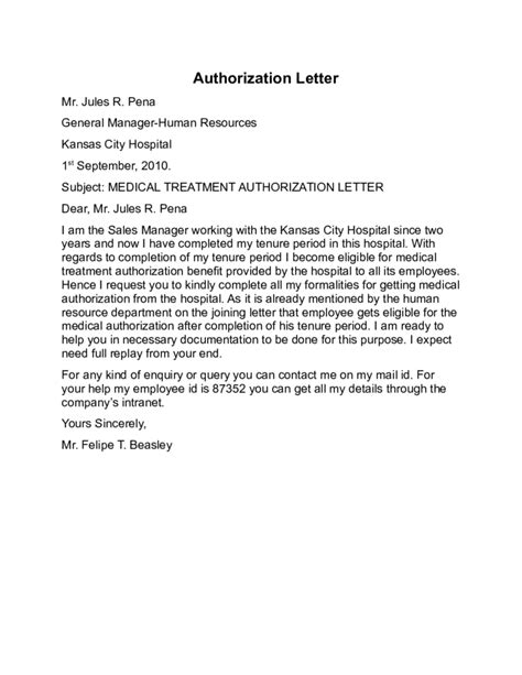 general authorization letter format authorization letter sle general best free home