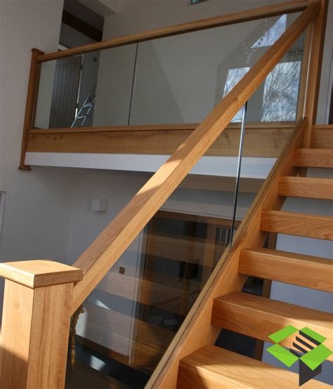 glass stair banister open plan oak and glass staircase stairbox staircases