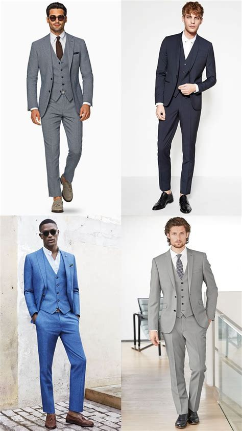 Men's Three Piece Suits Spring/Summer Wedding Guest Outfit