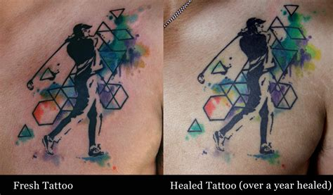 watercolor tattoos before and after how will watercolor tattoos age deanna wardin