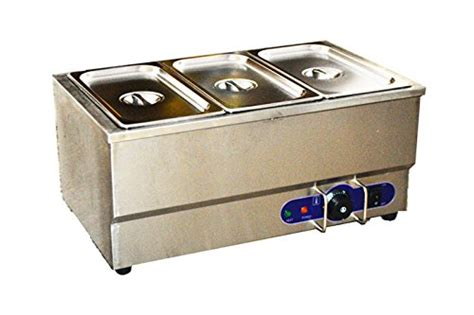 110v 3 pot electric commercial bain marie buffet food