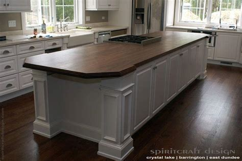 Walnut Kitchen Island by Custom Walnut Slab Kitchen Island Top By Spiritcraft