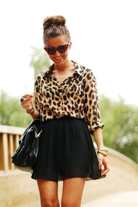 And Black Leopard Print Blouse by Kaci S M Fit Sheer Brown Leopard Cheetah Print