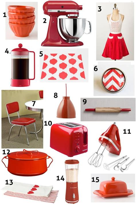 kitchen accents and accessories red kitchen decor ideas