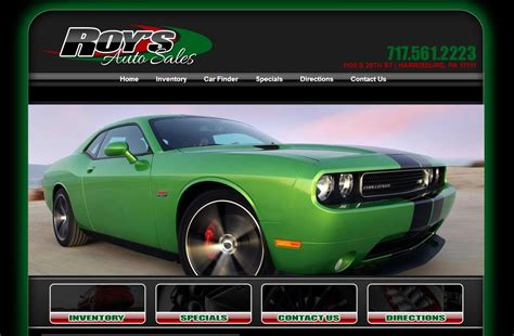 roy s auto sales new dealership website for roy s auto sales built by
